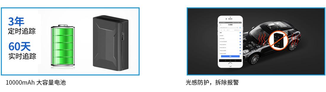 大容量可充电定位终端A5E-3核心功能1